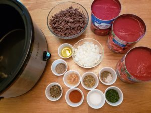 ingredients for Crock Pot Spaghetti or Pizza Sauce