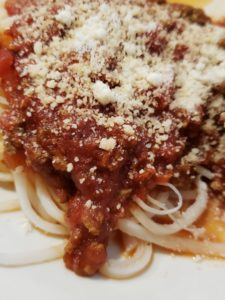 Freezer Spaghetti or Pizza Sauce over palmini noodles