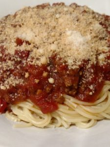 Crock Pot Spaghetti or Pizza Sauce over pasta