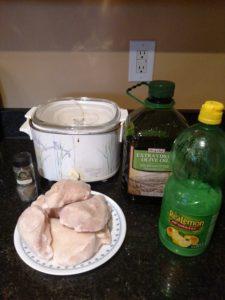 ingredients for Crock Pot Garlic Herb Chicken