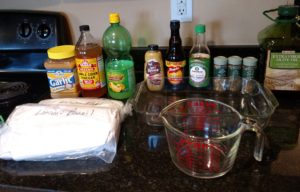 Ingredients for Grilled Marinated London Broil