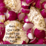 Low Carb Rosemary Chicken and Radishes