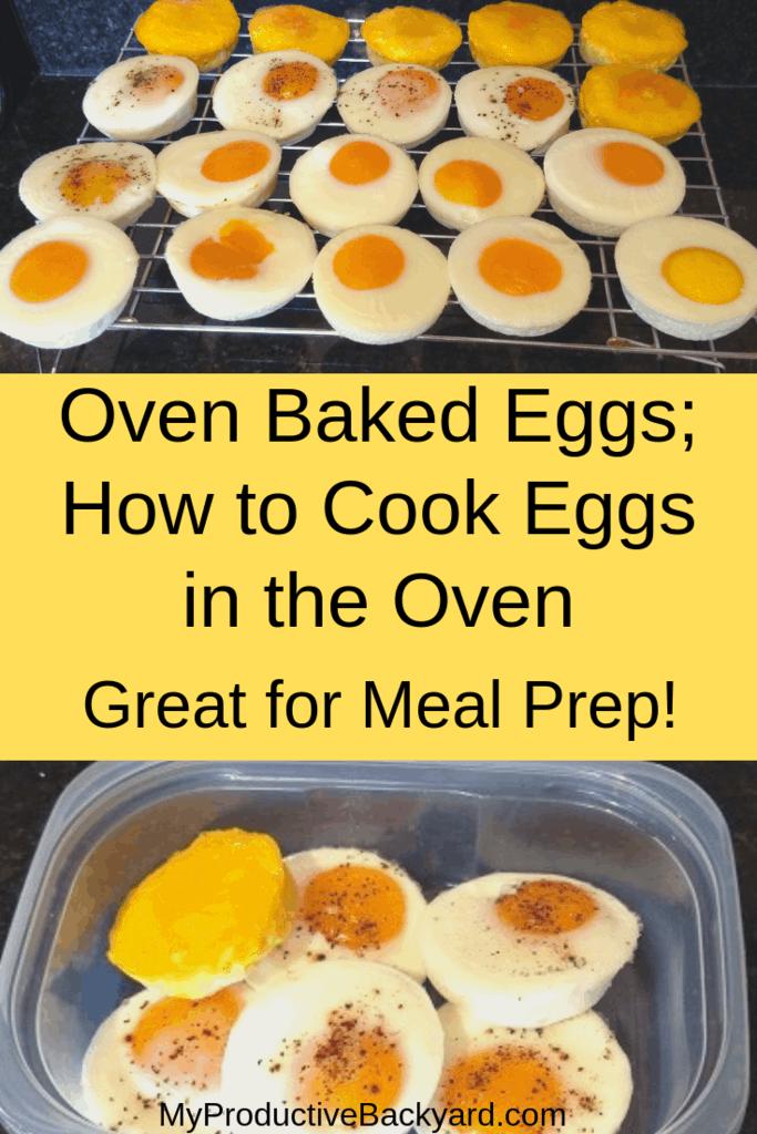 Oven Baked Eggs