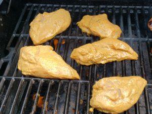 Coconut Buttermilk Southwestern Chicken on the grill