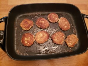 frying Gluten Free Salmon Cakes