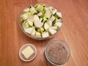 Ingredients for simple sauteed squash