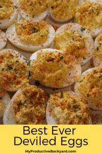 Best Ever Deviled Eggs Pinterest pin