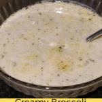 Creamy Broccoli Cauliflower Cheese Soup
