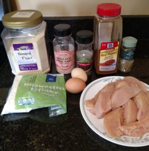 Coconut Crusted Chicken Strips ingredients