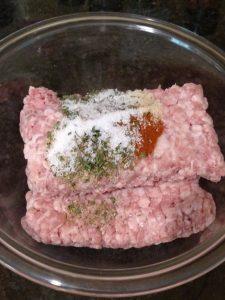 pork and seasonings