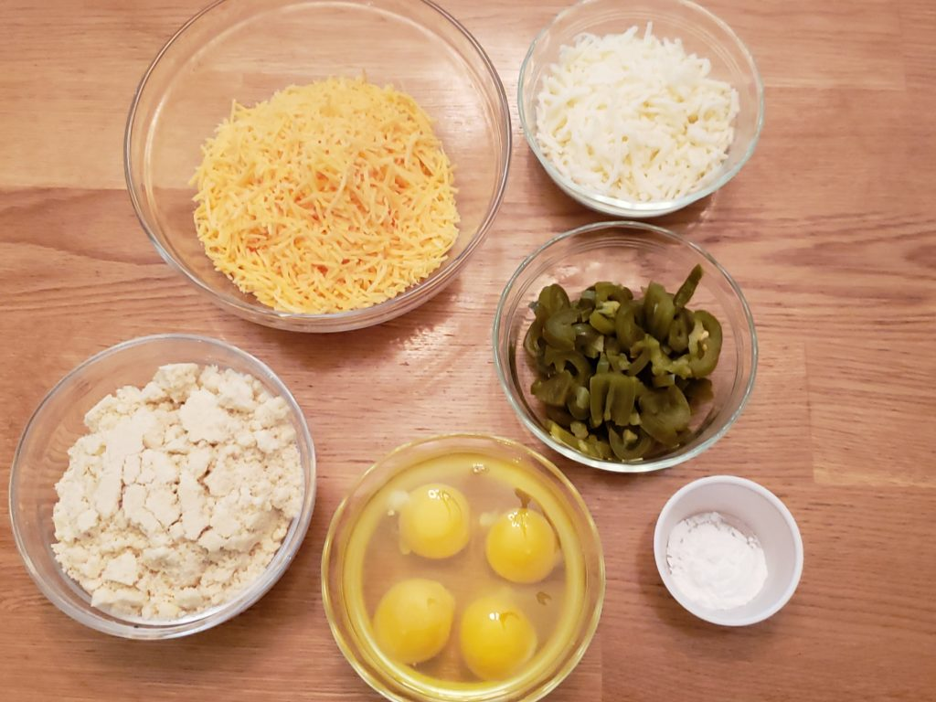 ingredients for Low Carb Jalapeno Cheese Biscuits