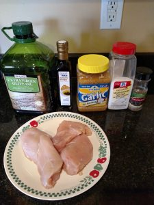 ingredients for Balsamic Grilled Chicken