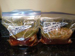 Karen's BBQ Chicken Freezer Meal in 2 Ziploc bags