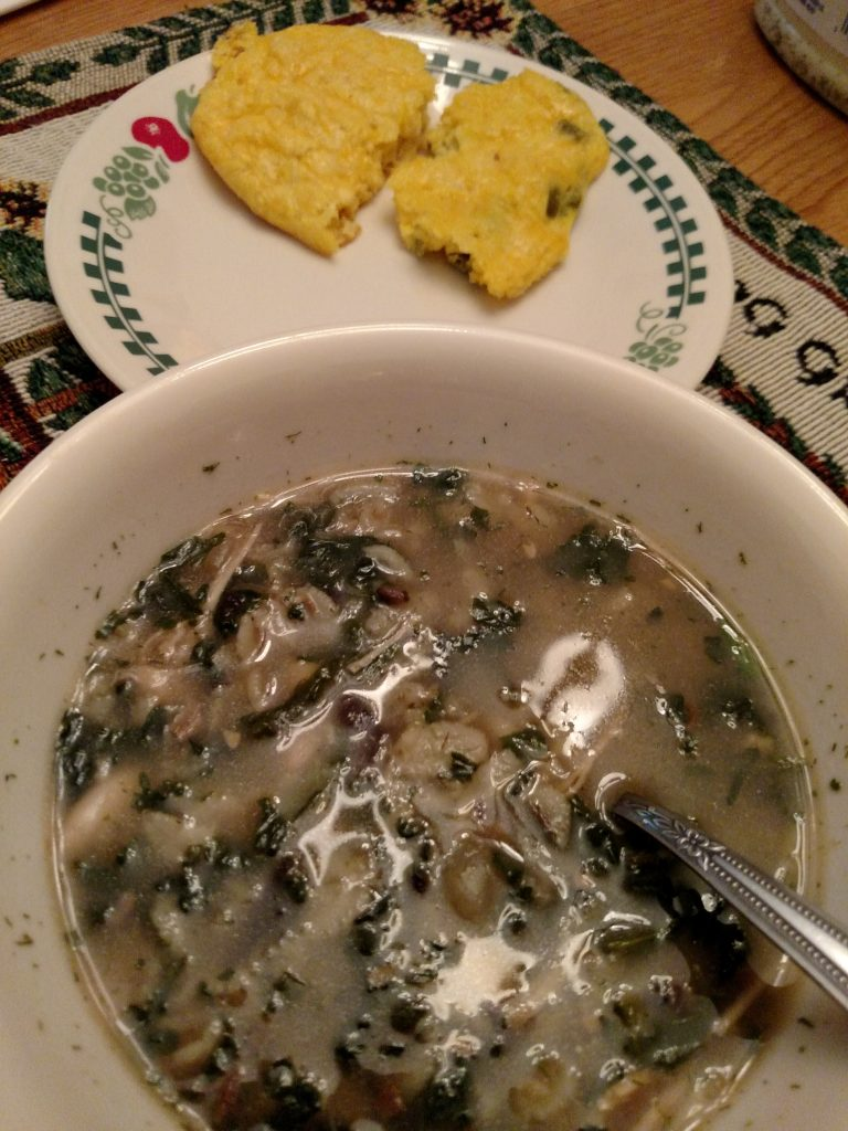 Low Carb Jalapeno Cheese Biscuits with soup