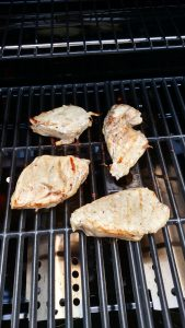 Balsamic Grilled Chicken on grill