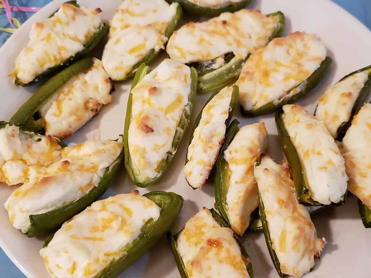 Low Carb Baked Jalapeno Poppers