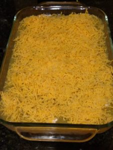 Chicken Enchilada Casserole before being baked