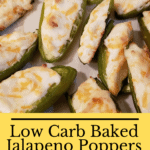 Low Carb Baked Jalapeno Poppers Pinterest pin