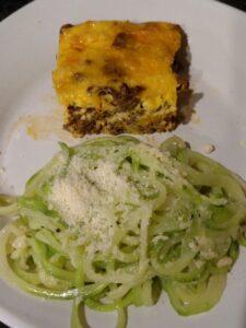 Zucchini Noodles Parmesan and taco pie