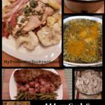 low carb crock pot meals collage
