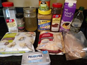 ingredients for Low Carb White Chicken Chili