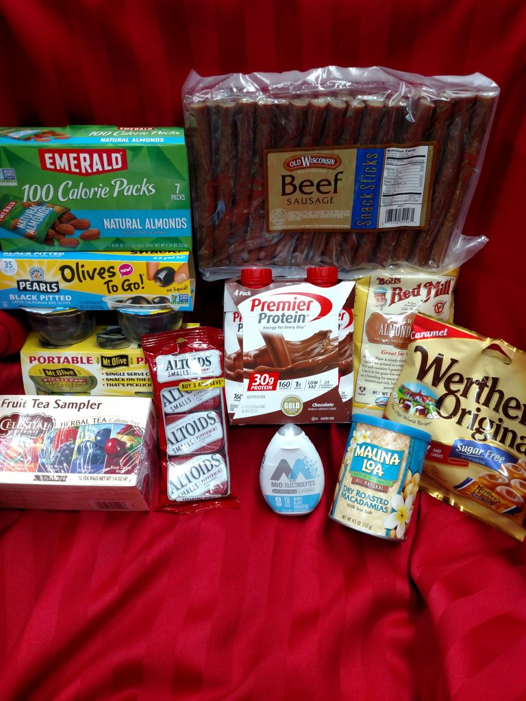 beef sticks, low carb candy and gum, almond flour, low carb snacks