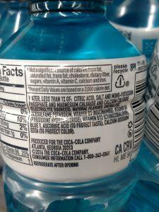 Powerade Zero label