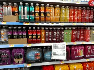 Clear ICE drinks in store