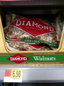 bag of walnuts in store