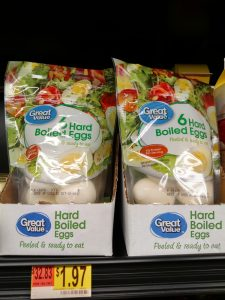 Great Value hard boiled eggs in store