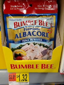 Bumble Bee tuna packet in store