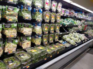 salad section of walmart