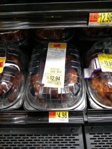 Walmart Rotisserie chicken in store