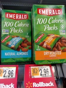 Emerald 100 calorie packs of nuts in store