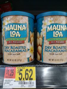 macadamia nuts in store