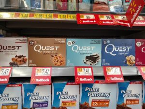 Quest bars in store