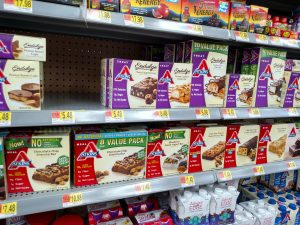 Atkins treats and meals on store shelves