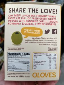 Oloves label