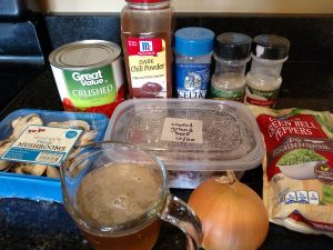 Ingredients for Low Carb Crock Pot Chili