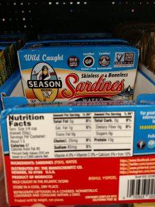 Season Brand Sardines label