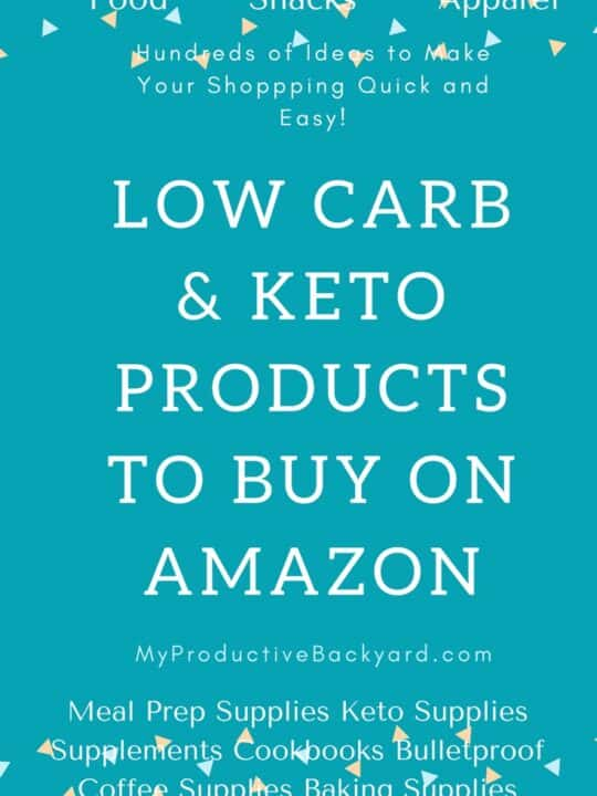 Low Carb Keto Products to Buy on Amazon