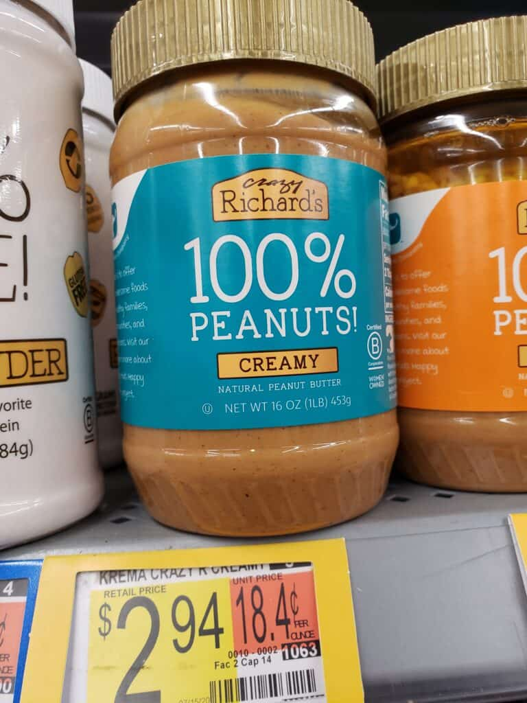 crazy richards peanut butter jar