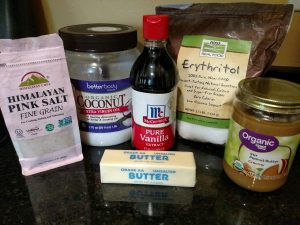 ingredients for peanut butter fat bombs