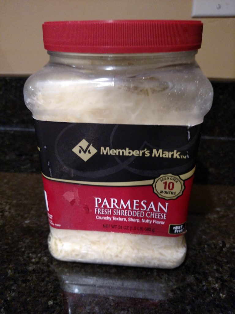 jar of parmesan cheese