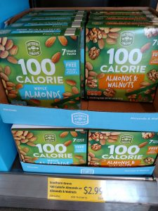 Southern Grove 100 Calorie Almonds or Almonds & Walnuts