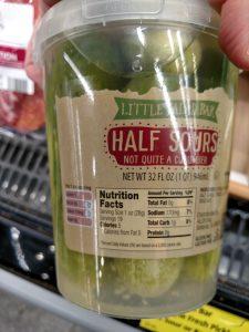 Little Salad Bar Deli Style Fresh Pickles; Half Sour label