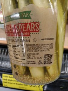 Little Salad Bar Deli Style Fresh Pickles; Kosher Dill label