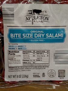 Appleton Farms Bite Size Salami Original label