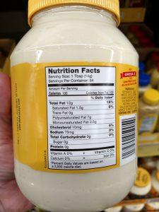 Duke's Mayonnaise label