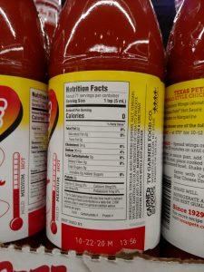 Texas Pete Hot Sauce label